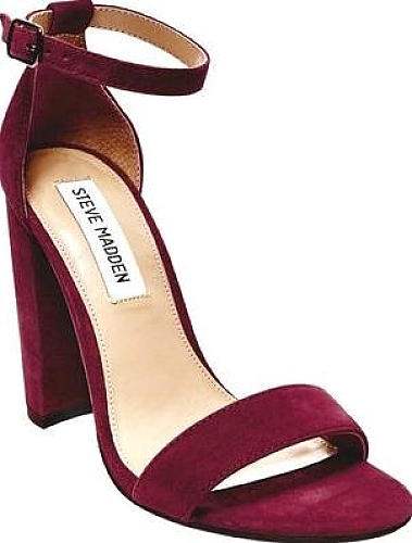 3718894ee4e Steve Madden Women s Shoes in Burgundy Suede Color. Bring your look  together with the fierce Carrson Sandal. Adjustable ankle strap Chunky heel.