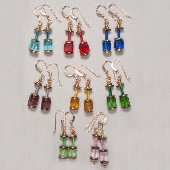 Crystal Rainbow Earrings 14K GoldFilled  in 8 by ZDesignsJewelry, $17.00