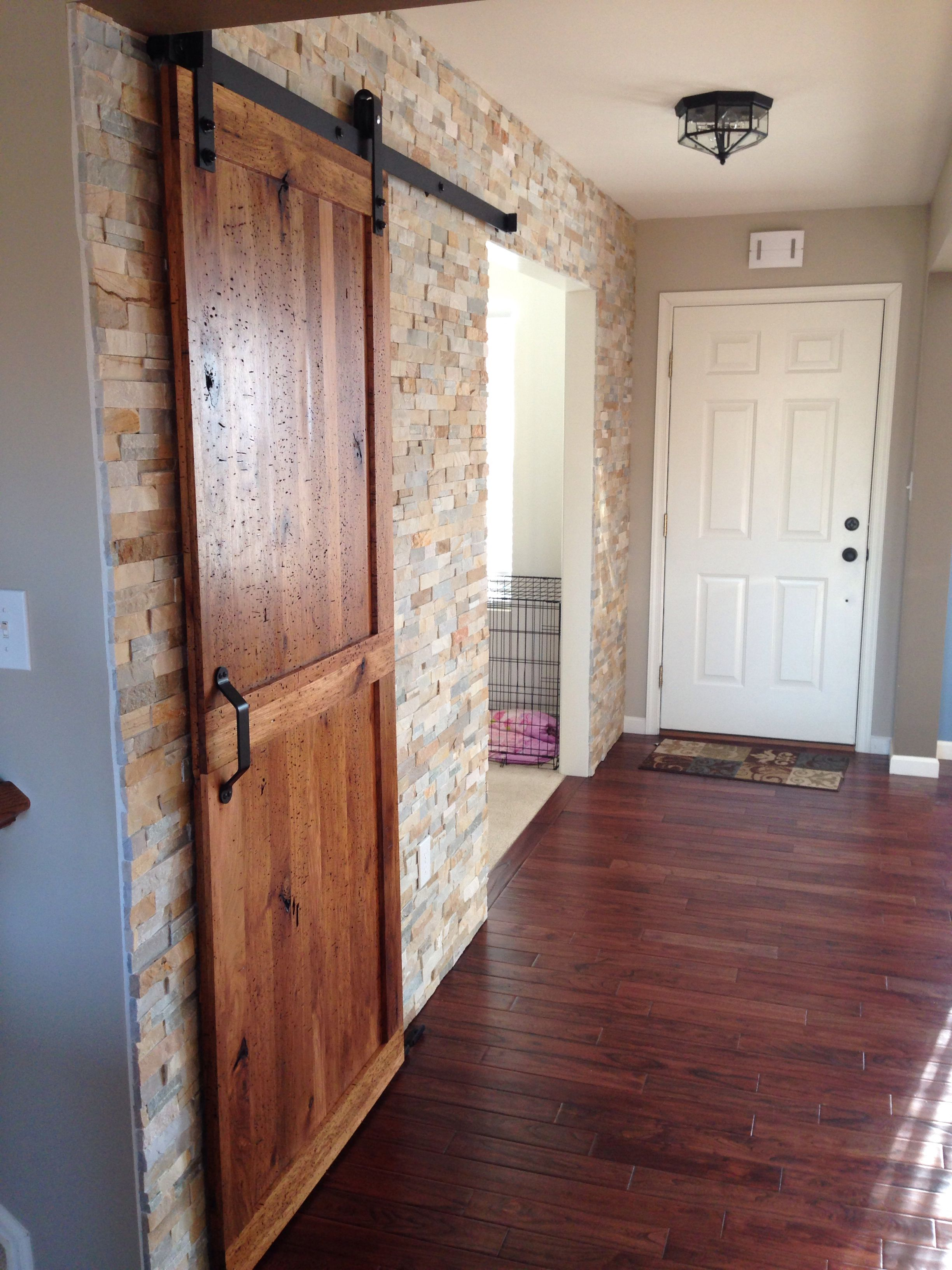 Barn Doors For Homes New Stone Wall And Barn Door Home Decor In 2019 Modern Rustic
