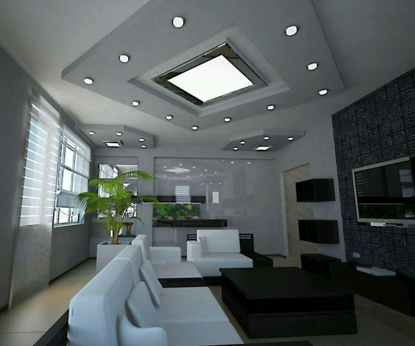 Modern Interior Decoration Living Rooms Ceiling Designs: Ultra Modern Living Room Decoration Ideas Picture