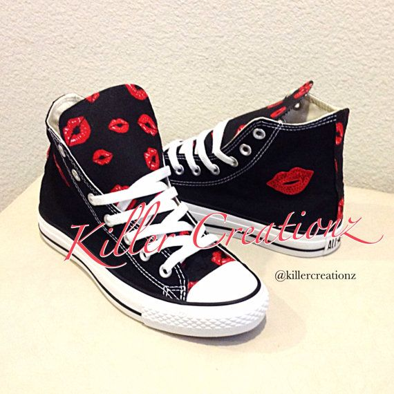 c8d9aa747a5f51 Custom Converse size 6.5 women by KillerCreationz on Etsy