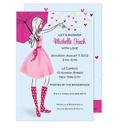 Let the love rain down on the beautiful Bride-to-be. Celebrate her day with this beautiful Bridal Shower invitation. This stylish design is expertly printed on luxurious heavyweight paper. A portion of the proceeds from the sale of this product will be donated to breast cancer research and education.