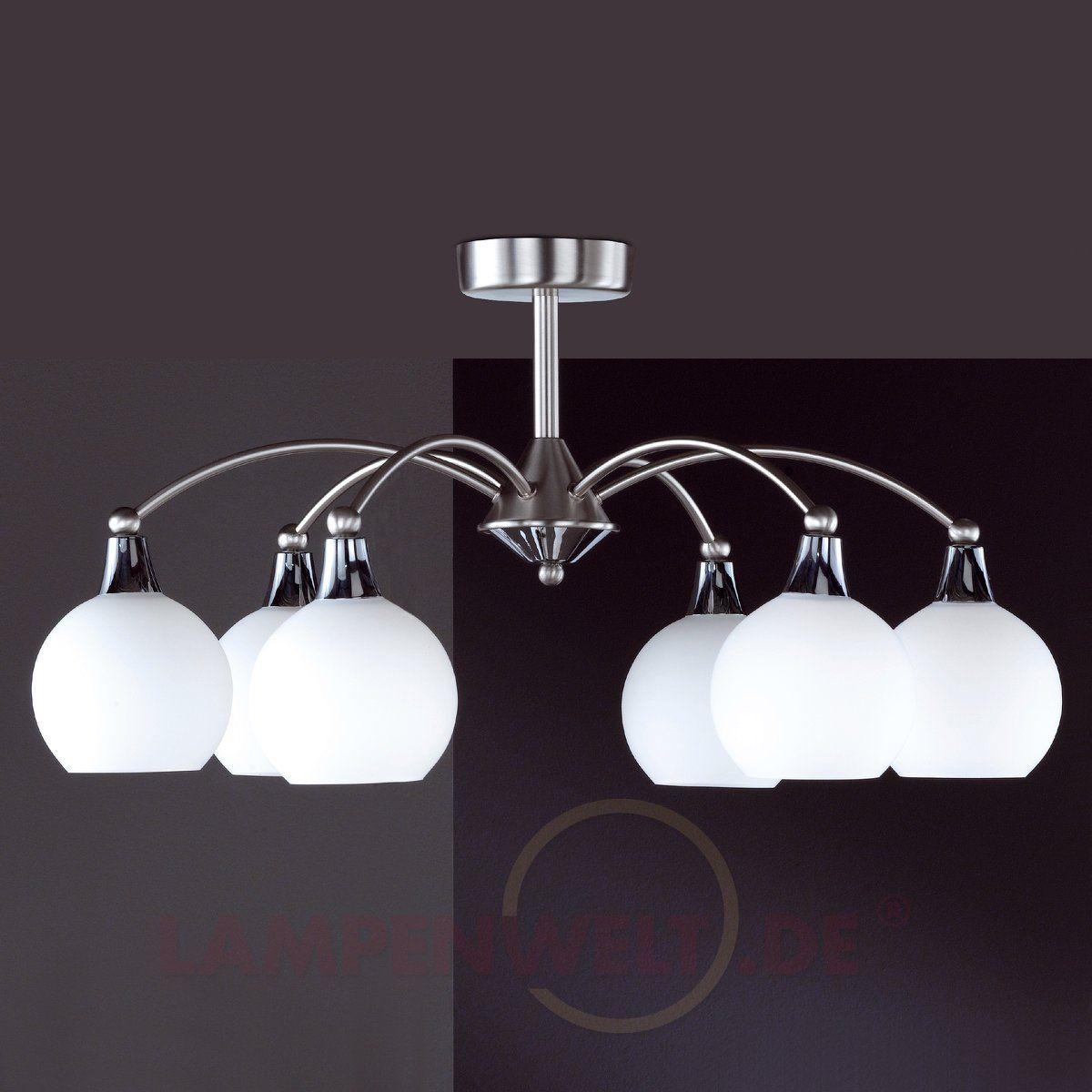 Stilvolle Deckenleuchte WEIMAR, nickel 4509635 | Lampen | Pinterest