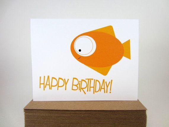 Birthday card happy birthday card childrens greeting card sea birthday card happy birthday card childrens greeting card sea creature card fish bookmarktalkfo Gallery