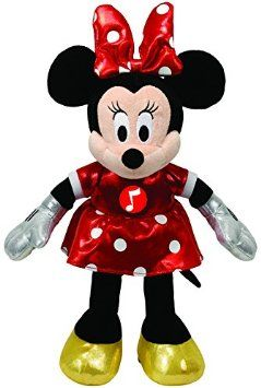 6a2d1287d7f Ty Disney Laughing Minnie Beanie Boo Soft Toy with Red Dress 15 x11 x 4.8cm