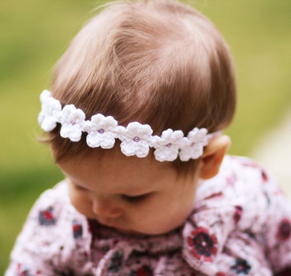 Daisy Chain Headband - Crochet Pattern pdf | Patrón de ganchillo ...