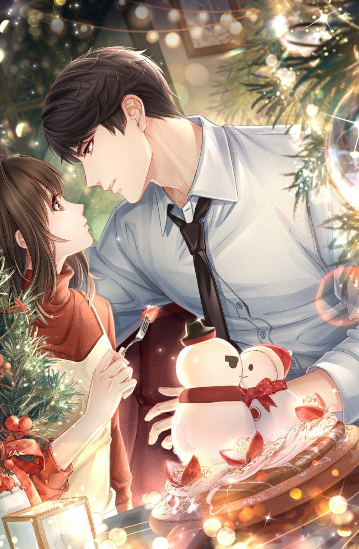 Cute romantic anime wallpaper