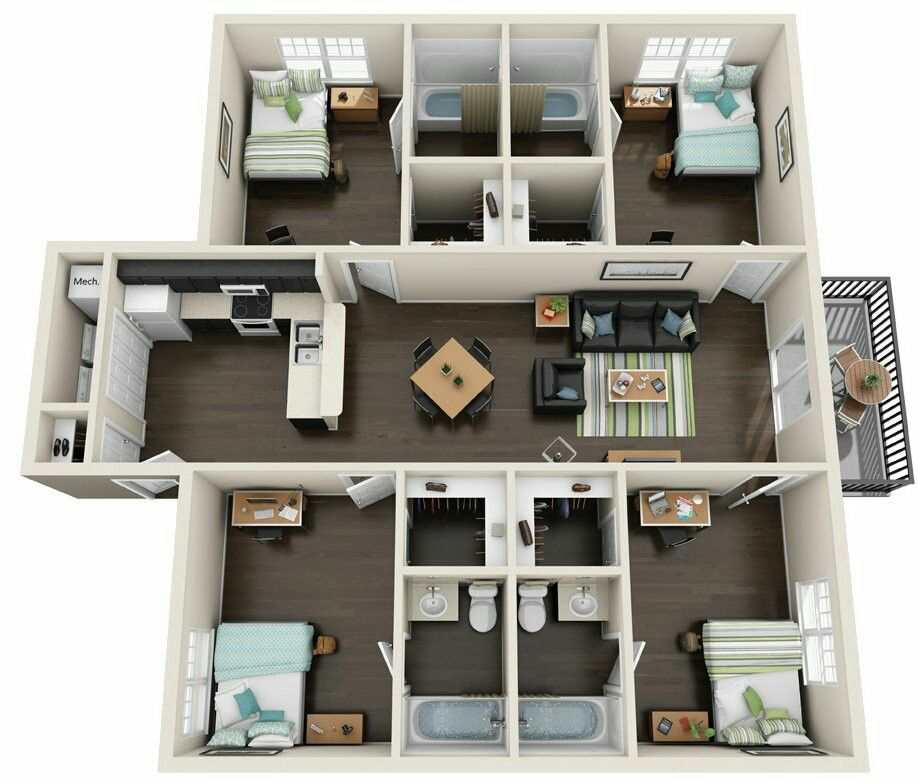 Pin By Djoa Dowski On Top View Inside House House Plans Mansion House Layout Plans One Bedroom House Plans