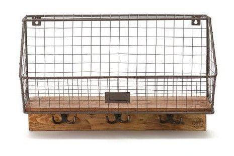 The Baxter - Handmade Wood and Metal Wall Display