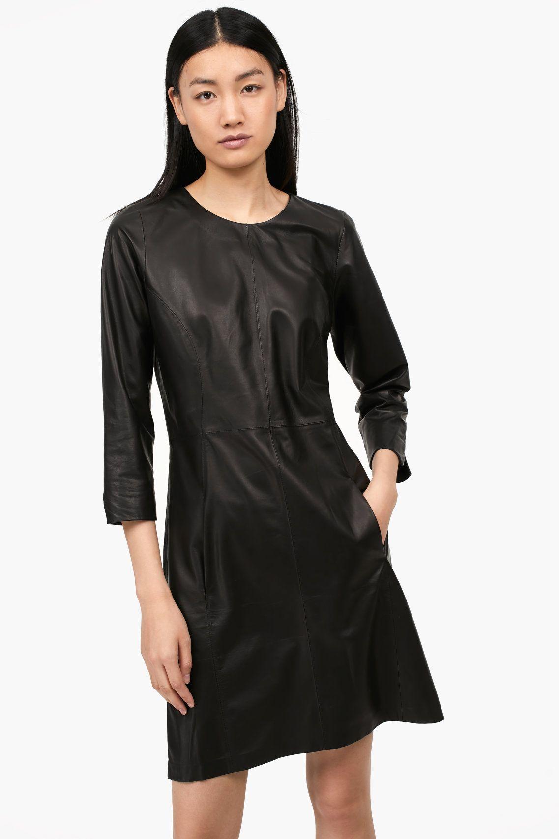 Damen CLOSED Kleid aus Lammleder black | 4054736487464 | Pinterest ...