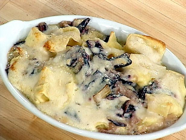 Mario's Baked Goat Cheese Tortellini with Radicchio Recipe : Mario Batali : Recipes : Food Network