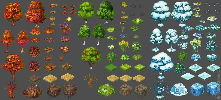 game assets tree isometric - Google Search Inspiration - Iso Art - best of world map quiz maker