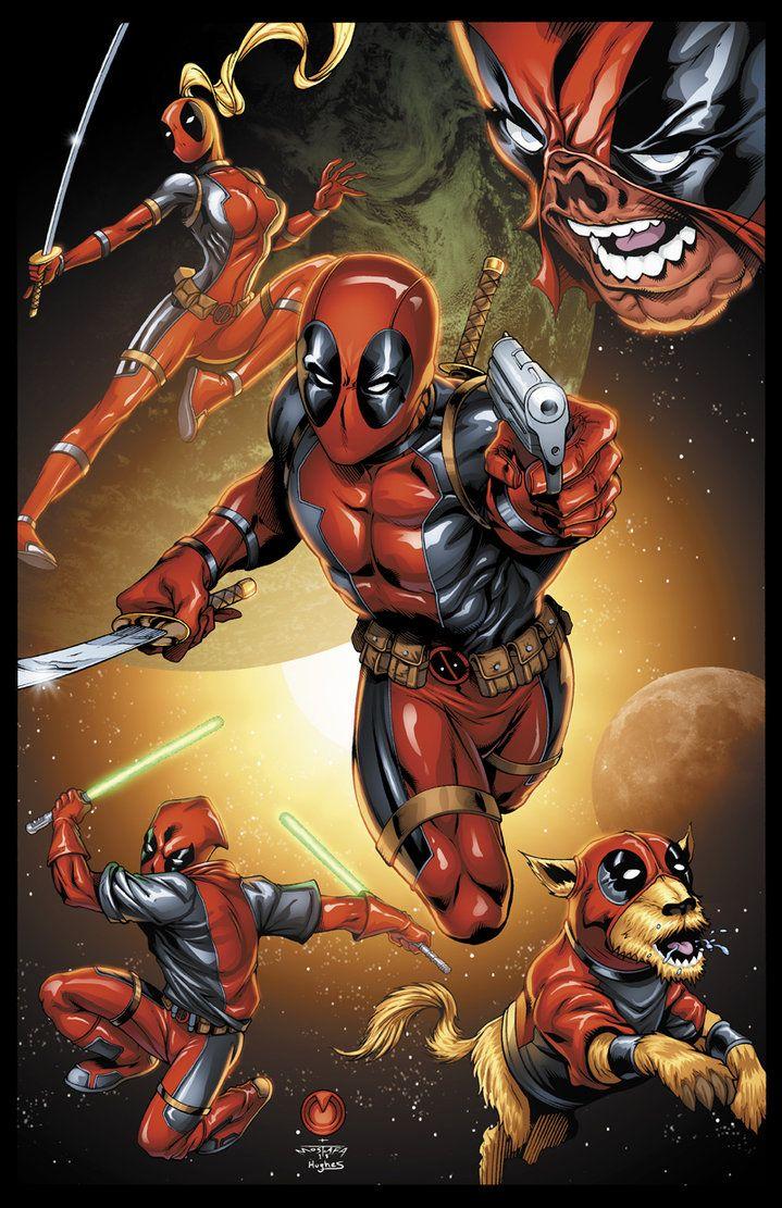 #Deadpool #Fan #Art. (Deadpool corps) By: Ross Hughes. (THE * 5 * STÅR * ÅWARD * OF: * AW YEAH, IT'S MAJOR ÅWESOMENESS!!!™) ÅÅÅ+