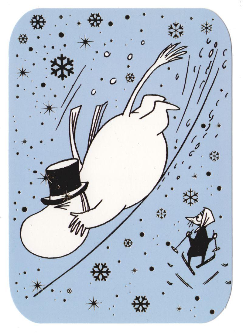 открытка волшебная зима в муми-доле много людей считают