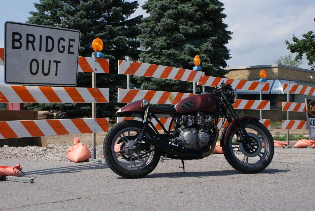#Yamaha #Seca #550 #CafeRacer #Custom #Vintage #Motorcycle #DimeCityCycles Customers' Build - www.dimecitycycles.com