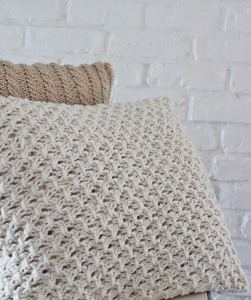 Knitting Pillow Cover Pattern Crochet Knit Pinterest Knitting Inspiration How To Knit Pillow Covers
