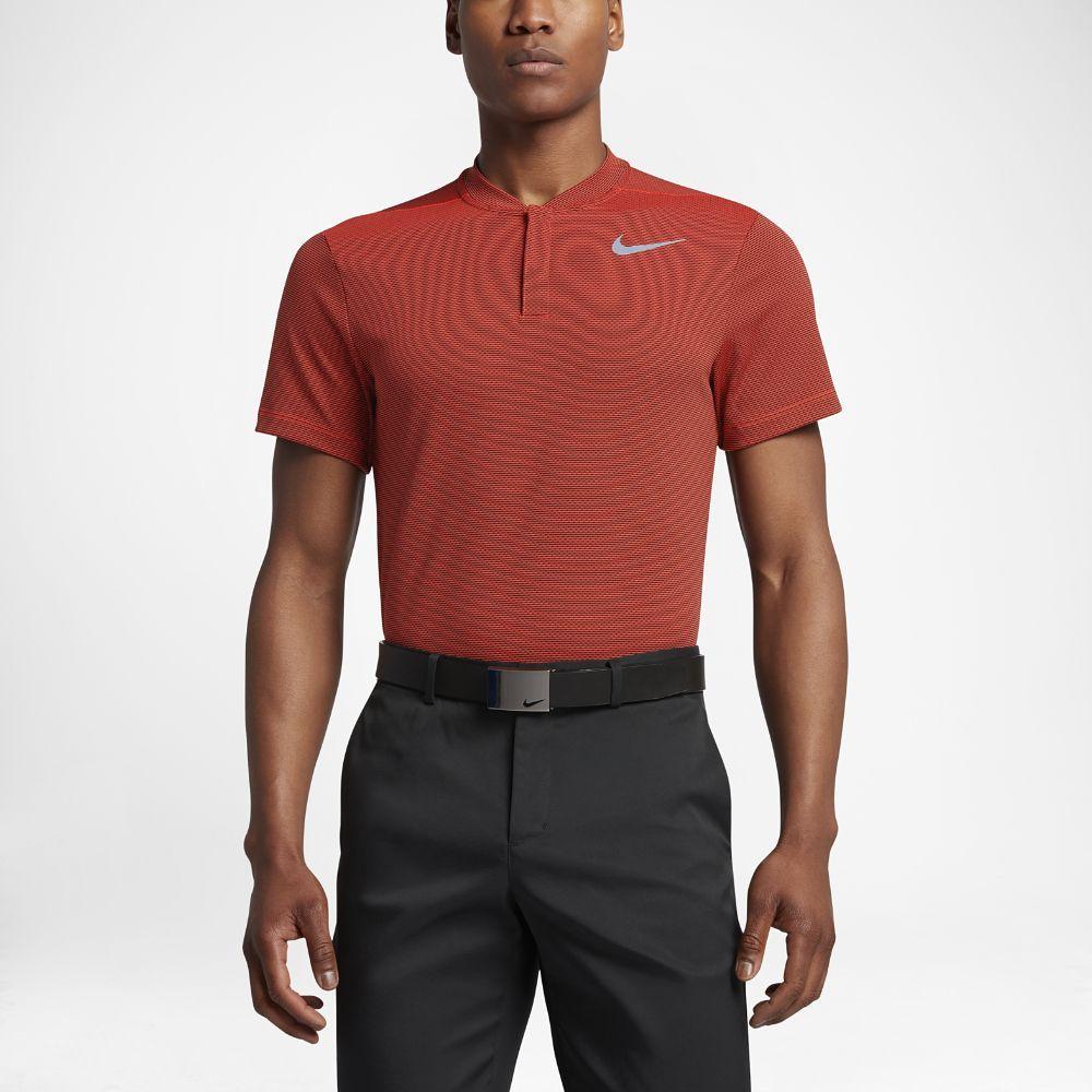 232aee26 Nike AeroReact Men's Slim Fit Golf Polo Shirt Size Medium (Orange ...