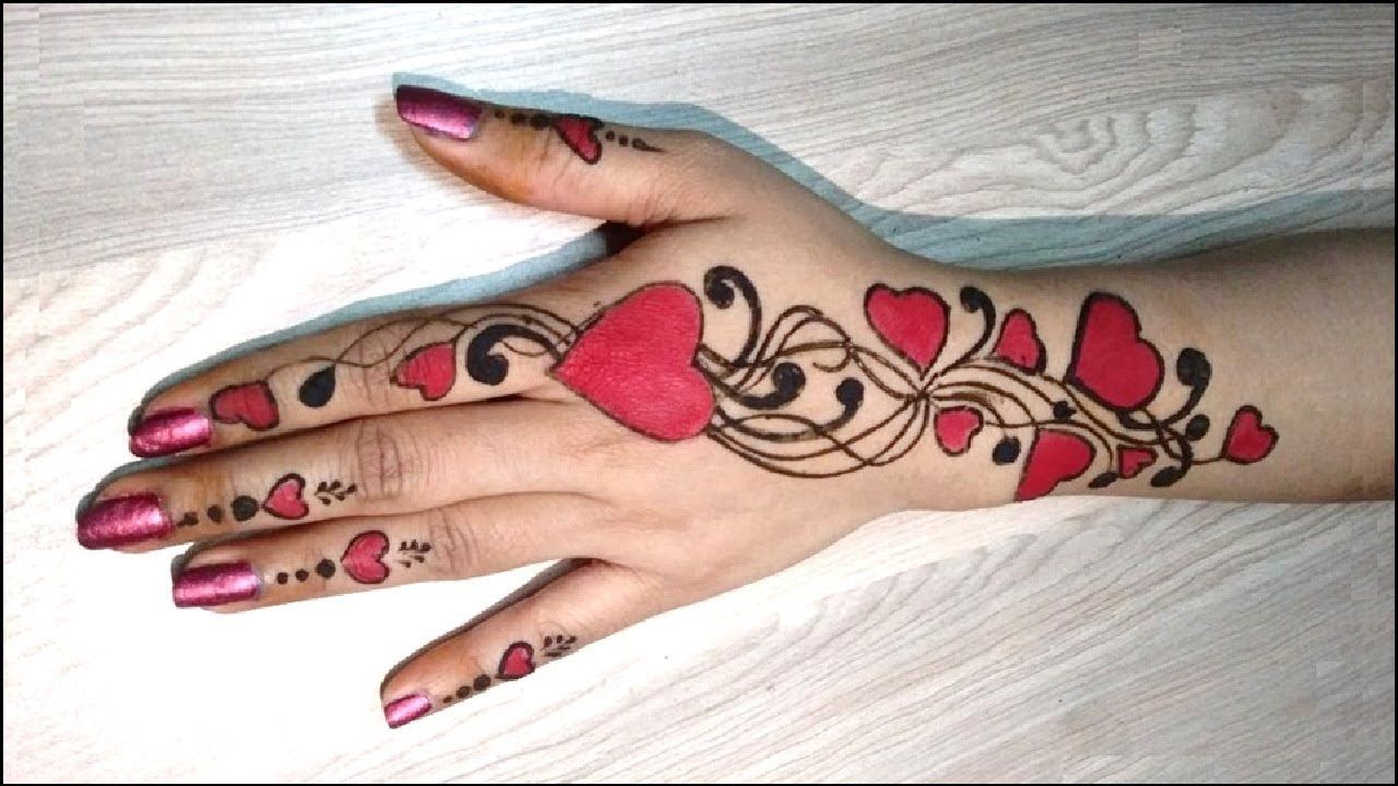 Mehndi Designs Heart : Henna design valentine s day special easy heart shaped mehndi