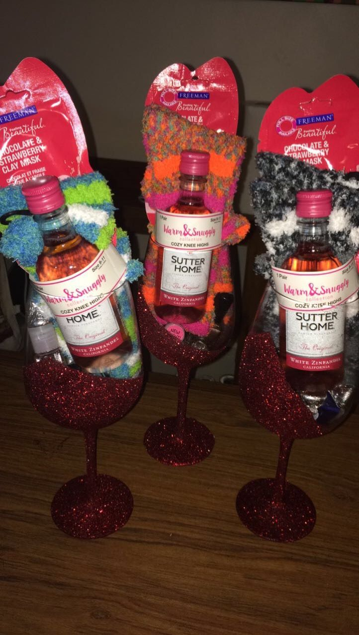 Made These Gorgeous Wine Glass Gift Packages For My Gal Pals
