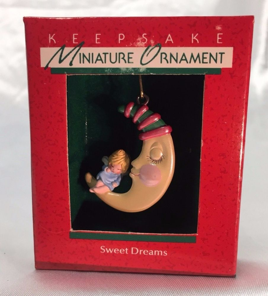 "Hallmark /""Sweet Dreams/"" Miniature Ornament 1988"