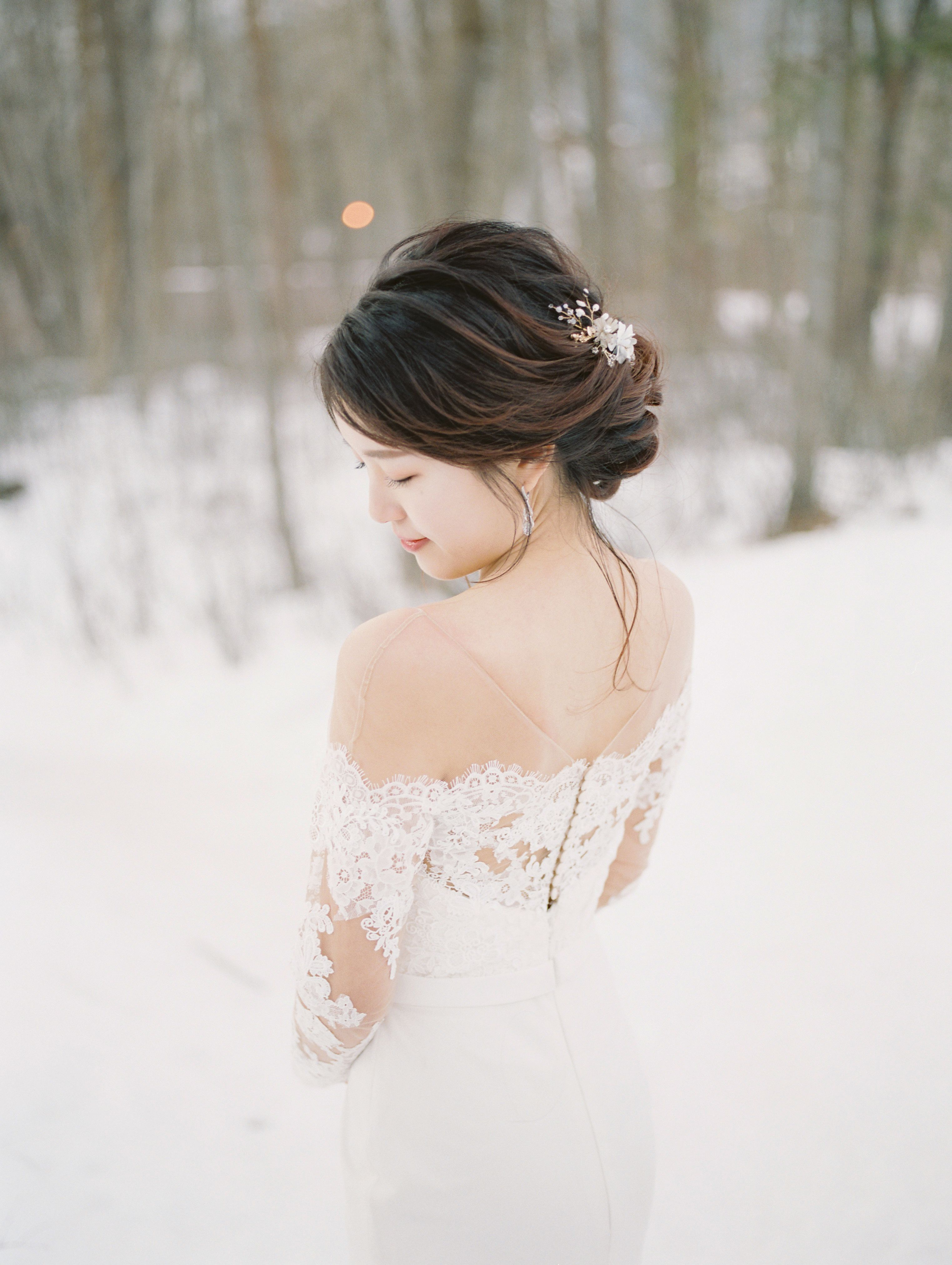 Asian Makeup And Updo Hairstyle Asian Bridal Makeup Flower Girl