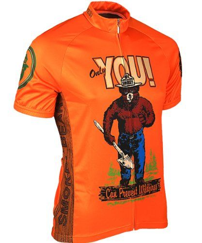 Retro Men s Smokey Bear Cycling Jersey (Medium) Retro Ima...  2d577dab3