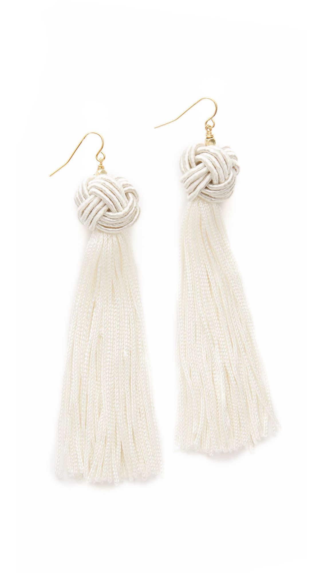 happiness tassel tassle white boutique en crystal earrings