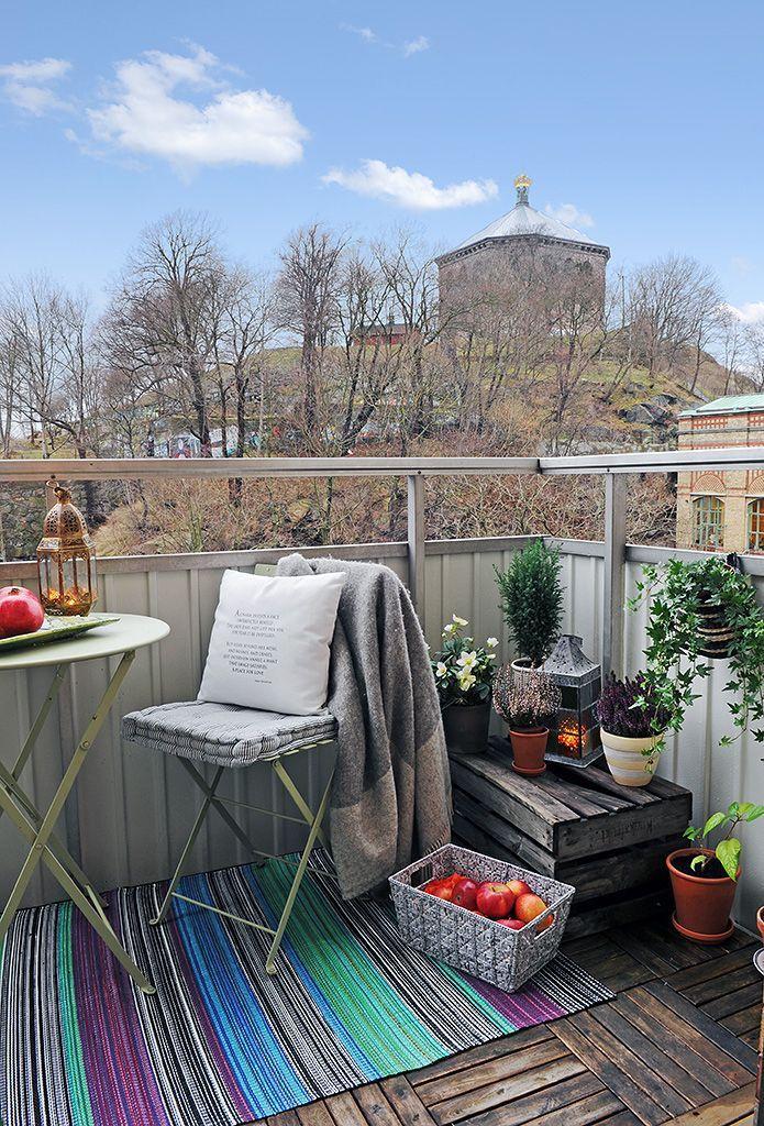 HOW TO DECORATE A SMALL TERRACE / COMO DECORAR UNA TERRAZA PEQUEÑA - como decorar una terraza