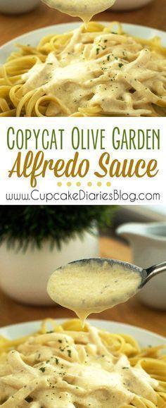Olive Garden Alfredo Sauce Recipe Restaurant Recipes Food