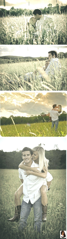 Engagement Bilder in einem Feld - so viel Spaß! ... möchte meine Abschlussball Bilder in einem Feld wie th #homecomingproposalideas