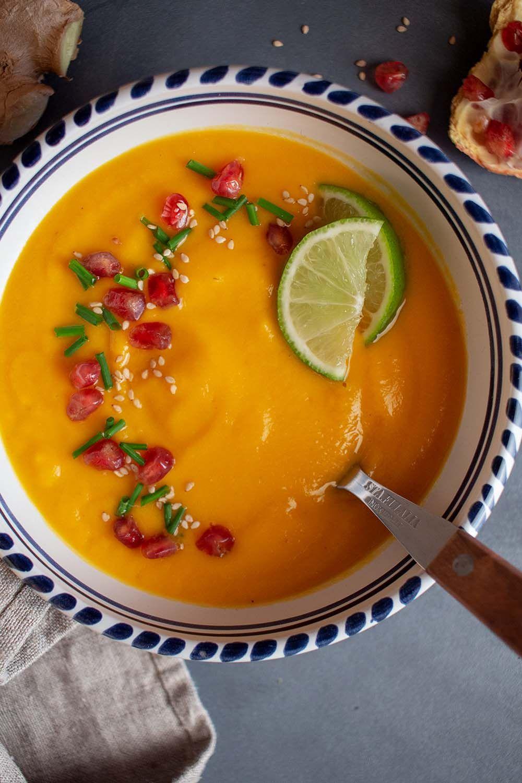Crema de Boniato y Manzana con jengibre – Çorba Tarifleri