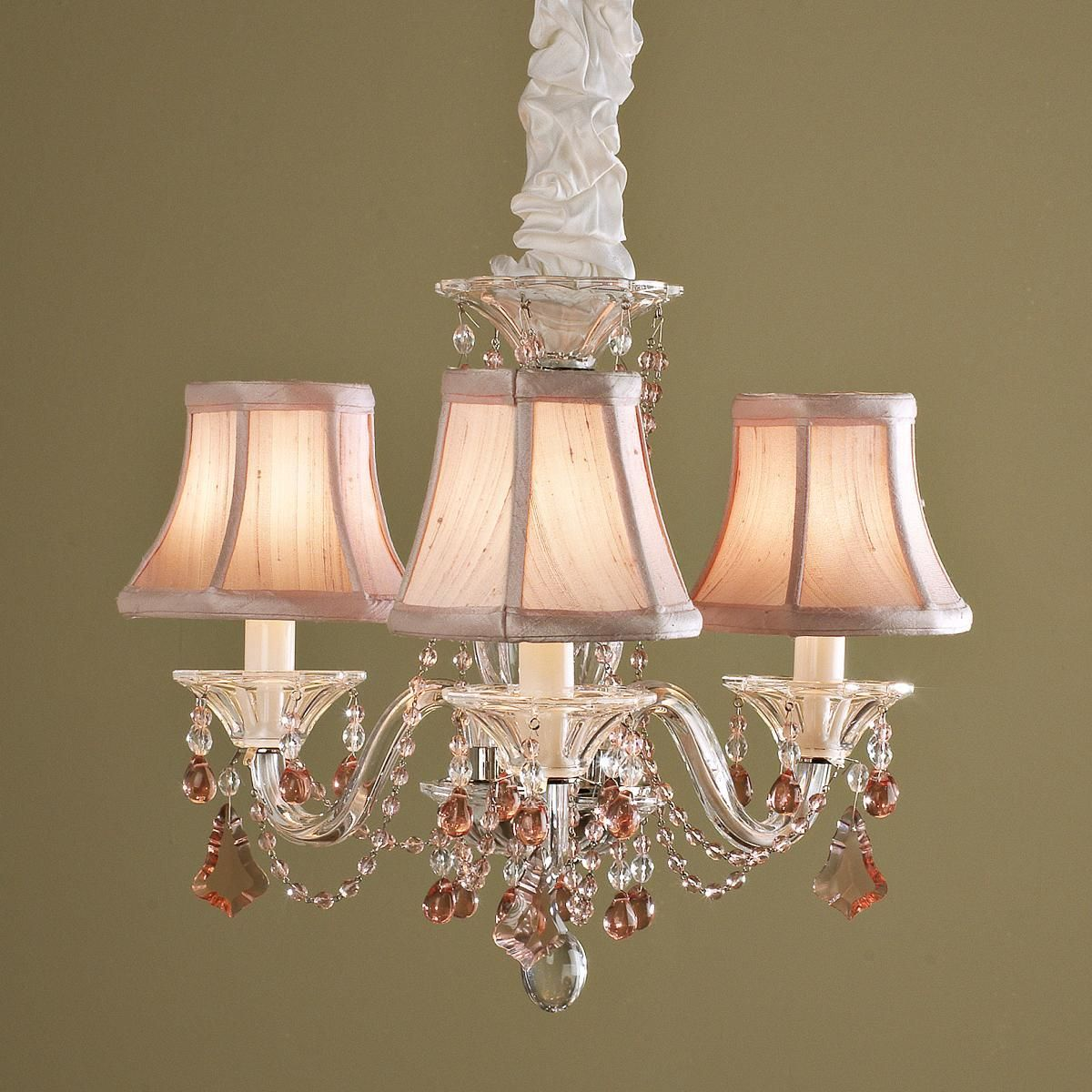 Schonbek Mini Crystal Chandelier 3 Colors Lampshade Chandelier