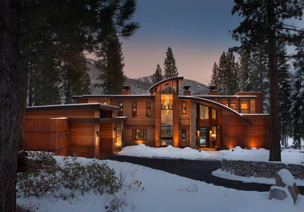 Лесной дом в США Блог