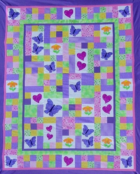 TWIN Quilt PATTERN - PDF - twin size bed quilt - child - girl ... : quilts twin size - Adamdwight.com