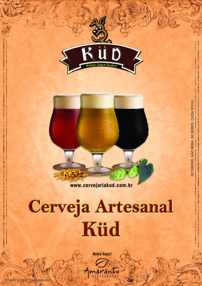 Cartaz Cervejaria Küd - modelo 01