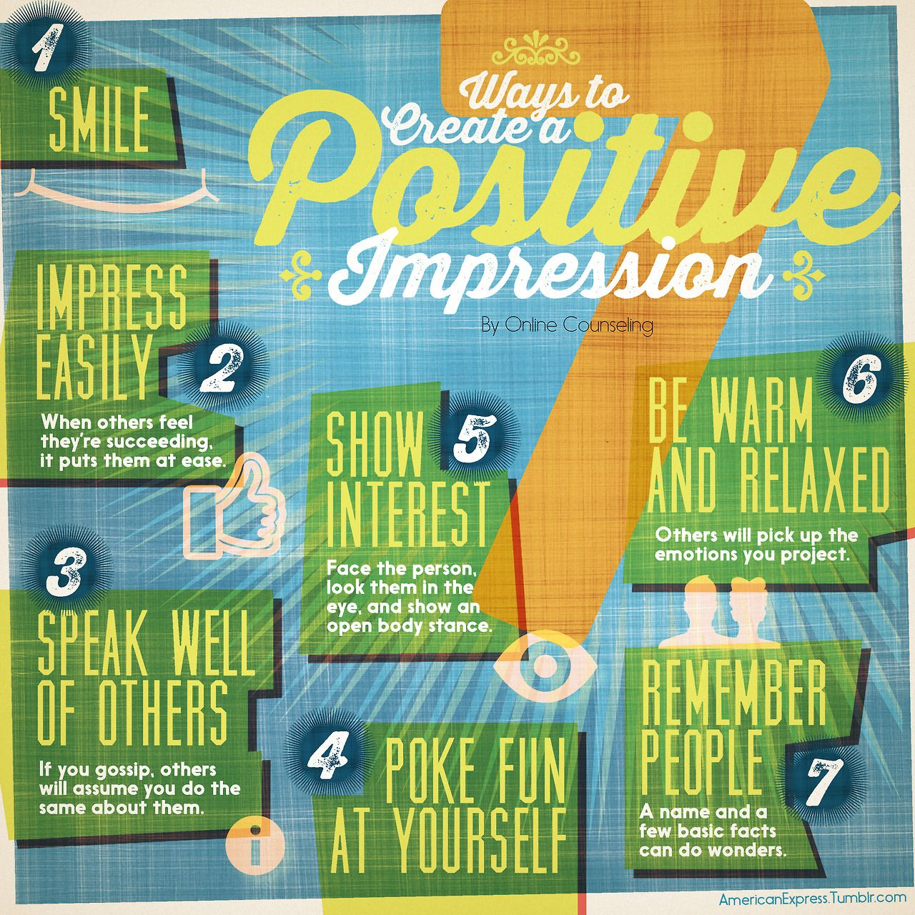7 Ways to Create a Positive Impression by Online Counseling #PointsForPassions (#ClientWork)