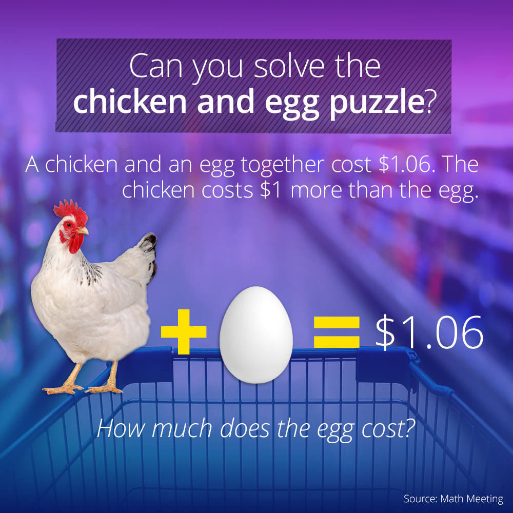 The Deceptively Tricky Chicken And Egg Puzzle Easy brain
