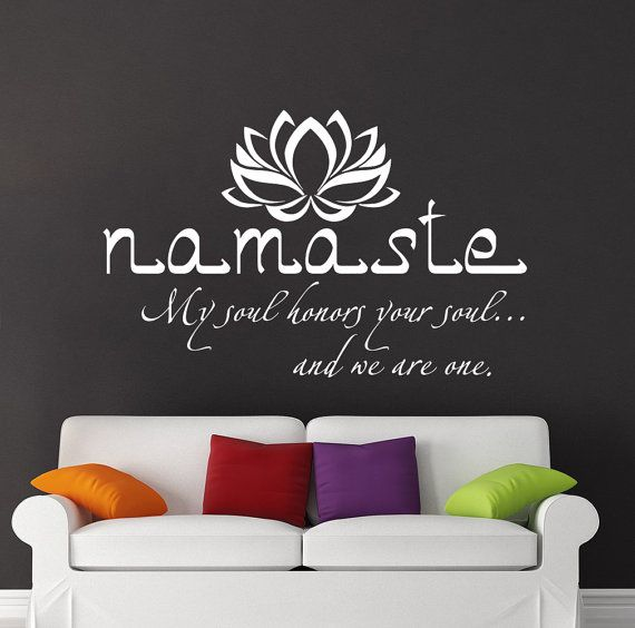 Namaste Wall Decal Quote Vinyl Sticker Decals Quotes Buddha Quote ...