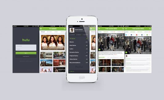 Hulu iPhone App reDesign Free PSD