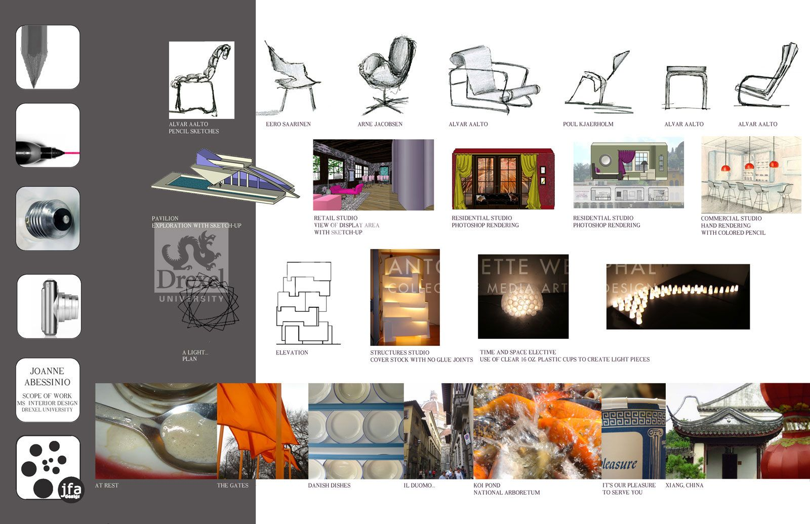 Interior design portfolio examples portfolio pinterest for Interior design portfolio