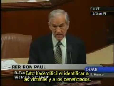 Ron Paul en la casa de Representantes 21/01/09 - Español