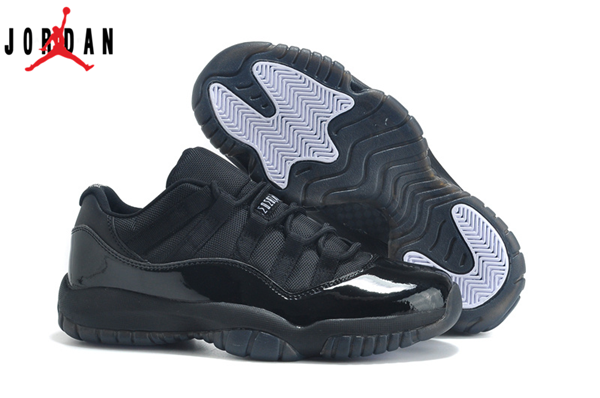 d3c72d26b992 Men s Women s Air Jordan 11 Low Basketball Shoes Triple Black