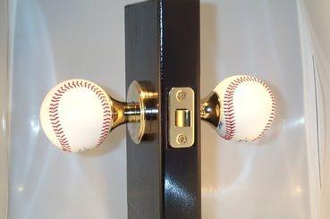 Baseball Doorknobs - Gemstone Door Hardware & Spheres Store & Outlet ...