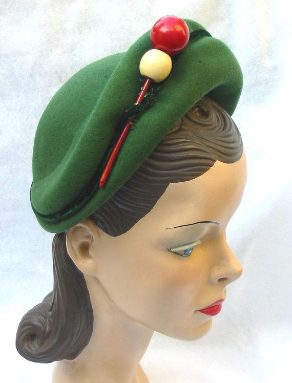 Vintage Green Hats