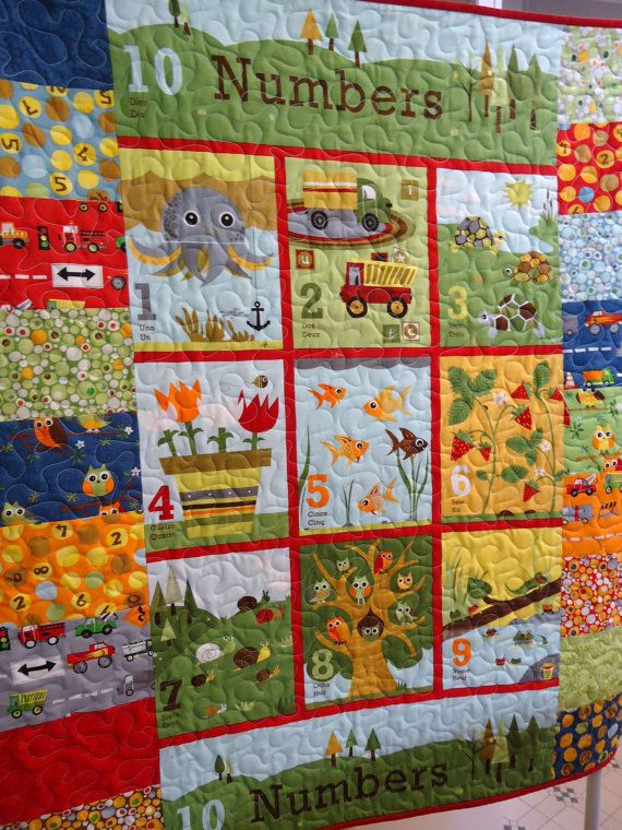 Owl Quilt Baby Quilt Numbers In Spanish And French Ten Little