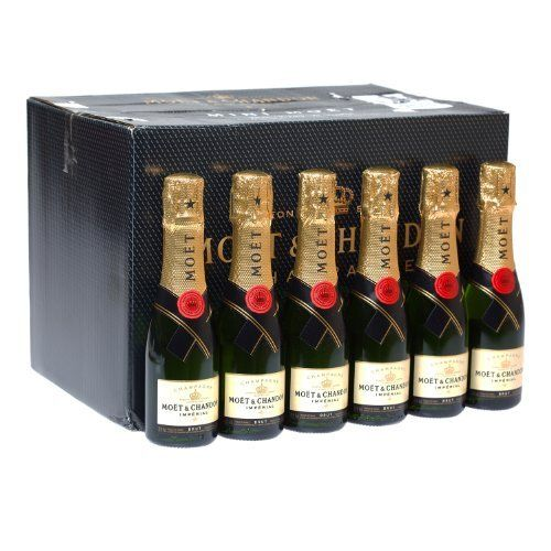 24 Personalized Custom Photo Acrylic Champagne Bottle With Gold Foil Top Set of 24