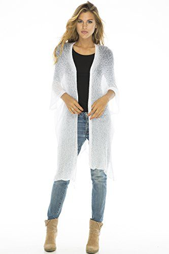 Back From Bali Womens Sheer Boho Knee Length Lightweight Cardigan ...