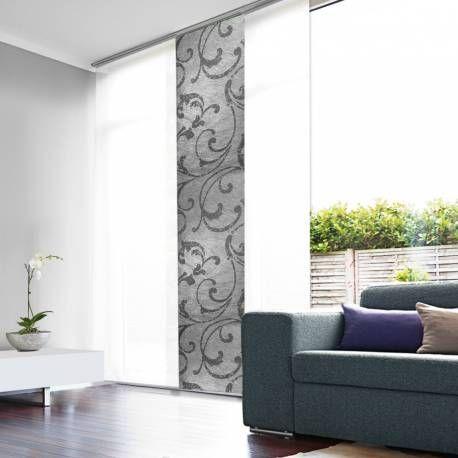 panneau japonais tamisant gris design