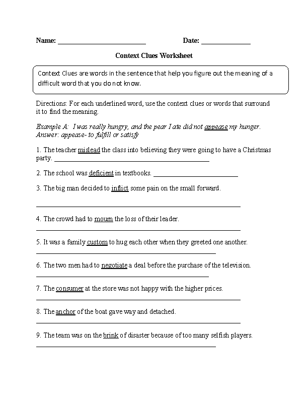 Worksheets Context Clues Worksheets 4th Grade context clues worksheet part 1 intermediate great english tools intermediate