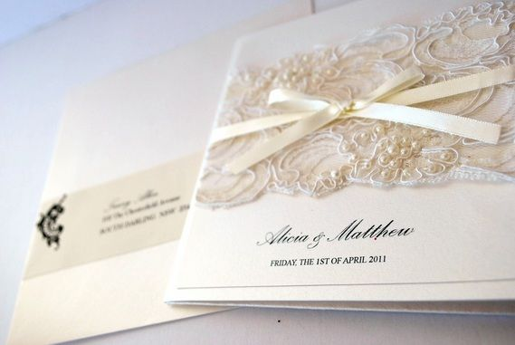 1000 images about Wedding Invites – Vintage Wedding Invitations Lace